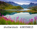 view of the fjord. rocky sea... | Shutterstock . vector #638558815