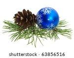 Christmas Ball And Pine Cone