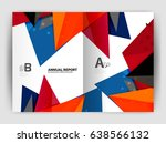 triangle business print... | Shutterstock .eps vector #638566132