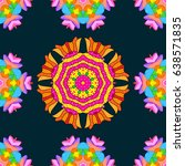bohemian decorative element ... | Shutterstock .eps vector #638571835