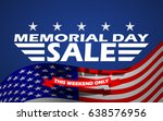 memorial day sale banner... | Shutterstock .eps vector #638576956
