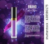 moisten lip gloss ads.... | Shutterstock .eps vector #638580175