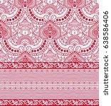 indian hand print fabric  | Shutterstock . vector #638586406