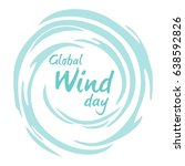 global wind day. 15 june. ... | Shutterstock .eps vector #638592826