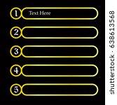 sequence rank template info...   Shutterstock .eps vector #638613568