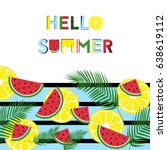 summer graphics with fresh... | Shutterstock .eps vector #638619112