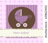 new baby arrival card  vector | Shutterstock .eps vector #63862402