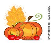 vector picture of thanksgiving... | Shutterstock .eps vector #63862507