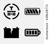 fuel icons set. set of 4 fuel... | Shutterstock .eps vector #638628772