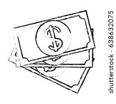bill dollar money isolated icon | Shutterstock .eps vector #638632075