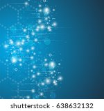 dna and medical and technology... | Shutterstock .eps vector #638632132
