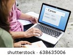 career experience knowledge... | Shutterstock . vector #638635006