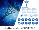 2d illustration health care and ... | Shutterstock . vector #638635942
