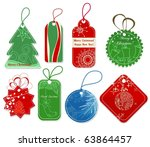 christmas price tags collection | Shutterstock .eps vector #63864457