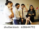 unsuccessful business and in a... | Shutterstock . vector #638644792