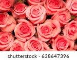 beautiful rose background  | Shutterstock . vector #638647396