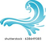 abstract water arc | Shutterstock .eps vector #638649385