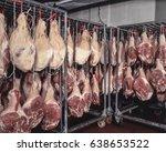 cured serrano ham cured pig... | Shutterstock . vector #638653522
