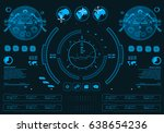 futuristic virtual graphic... | Shutterstock .eps vector #638654236