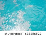 dirty oil on the blue sea | Shutterstock . vector #638656522