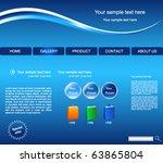 web site vector design template | Shutterstock .eps vector #63865804