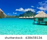 Overwater Bungalows Of A Luxur...