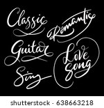 love song and classic hand... | Shutterstock .eps vector #638663218