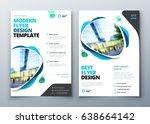 flyer template layout design.... | Shutterstock .eps vector #638664142