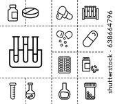 pharmaceutical icon. set of 13...   Shutterstock .eps vector #638664796