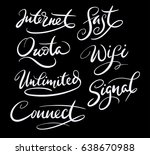 internet and connect hand... | Shutterstock .eps vector #638670988