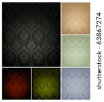 seamless wallpaper pattern  set ... | Shutterstock .eps vector #63867274