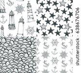 sea vector patterns  set of...   Shutterstock .eps vector #638676706