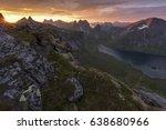 evening mood in kjerkfjorden ... | Shutterstock . vector #638680966