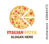 pizza logo with text space for...   Shutterstock .eps vector #638682472