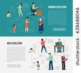 people evolution digital gadget ... | Shutterstock .eps vector #638688046