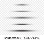 set of soft oval vector shadows ...   Shutterstock .eps vector #638701348