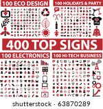 400 top signs. vector | Shutterstock .eps vector #63870289