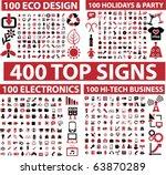 400 top signs. vector | Shutterstock .eps vector #63870289