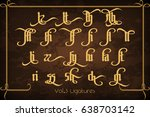 the pontifice   vintage gothic...   Shutterstock .eps vector #638703142
