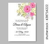 pink rose tropical flower...   Shutterstock .eps vector #638716222