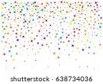 festive colorful star confetti... | Shutterstock .eps vector #638734036
