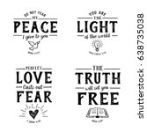 christian bible verse hand... | Shutterstock .eps vector #638735038