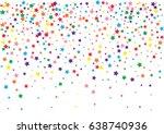 festive colorful star confetti...