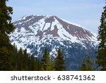 snow capped colorado mountain...   Shutterstock . vector #638741362