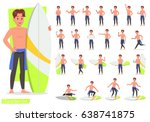 summer holiday. people in the... | Shutterstock .eps vector #638741875