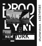 photo print brooklyn bridge...   Shutterstock . vector #638749585