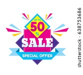 sale discount up to 50   ... | Shutterstock .eps vector #638753686