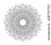 floral mandala  vector...   Shutterstock .eps vector #638755702