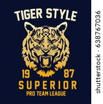 tiger style tee graphic | Shutterstock .eps vector #638767036