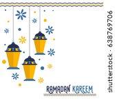 happy ramadan kareem festival... | Shutterstock .eps vector #638769706